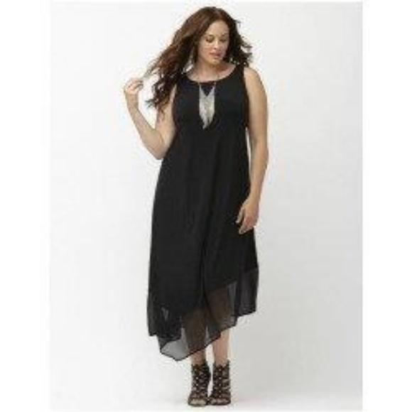 aadd6d07048f Lane Bryant Dresses & Skirts - Lane Bryant Black Matte Midi Dress - Size 26/